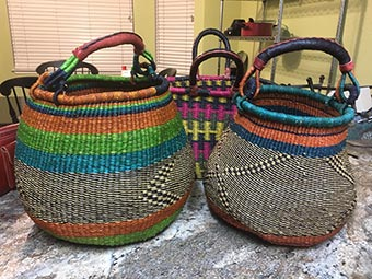 Jennie and Sulemana Awal - West African baskets
