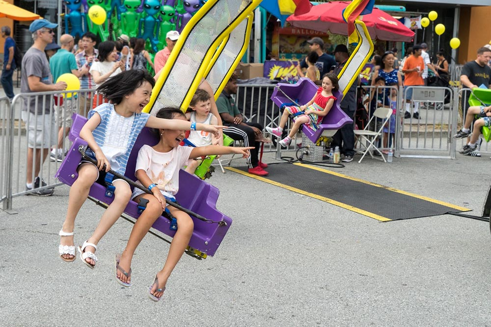 Kids' Playland swing ride is a thrill