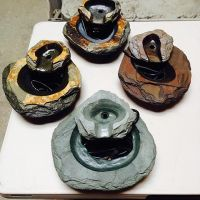 Dean Shapiro hand-carved slate water fountains